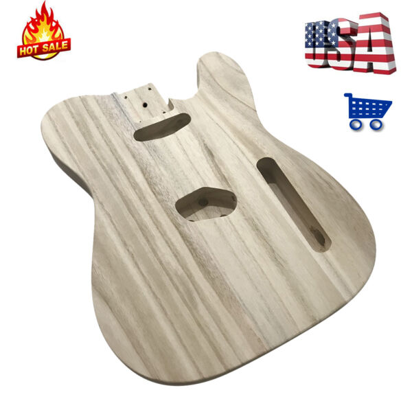 Polished Wood Electric Guitar Barrel DIY Electric Maple Body For TL Style Guitar $37.99