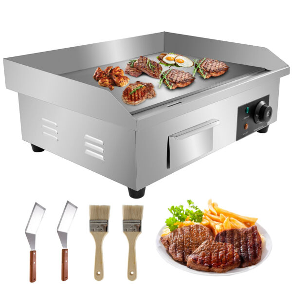 22quot; Commercial Electric Countertop Griddle Flat Top Grill Hot Plate BBQ 3000W