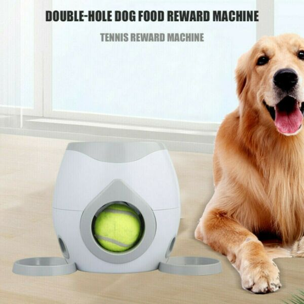 Dog Toys Automatic Tennis Ball Pet Food Dispenser Fetch Reward Machine $27.99