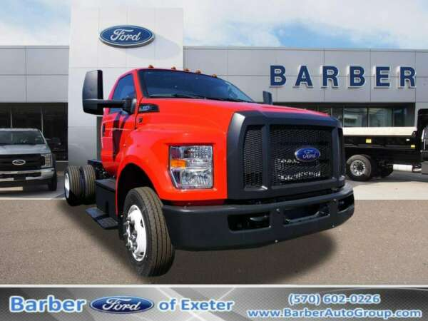 2019 Ford F-650 Kick-Up Frame 0 Race Red Hooklift Body 10 Ford 6-Speed TorqShift