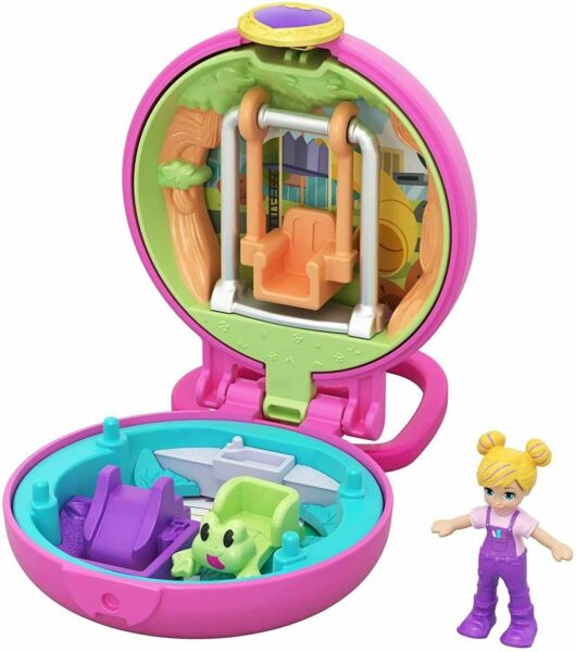 Polly Pocket GKJ42 Tiny Compact Multi-Colour With Swing Set! Ships Free!