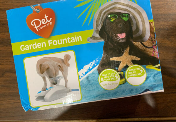 Pet Central Outdoor Garden Water Drinking Fountain Press Step Operated NEW $7.99