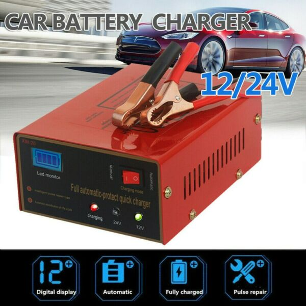 Car Battery Maintainer Charger Tender 12V Portable Auto Trickle Boat Motorcycle $26.99