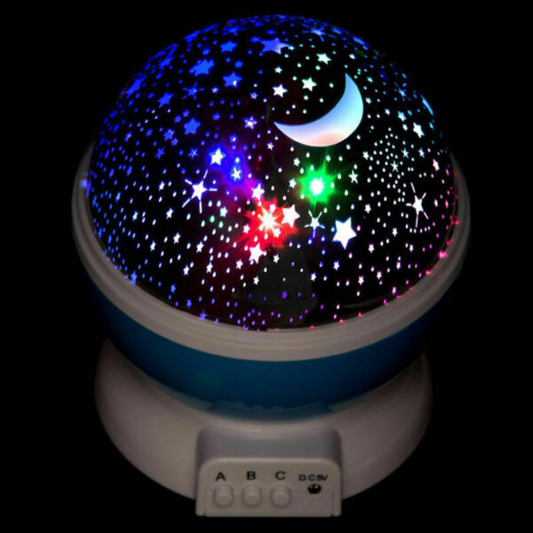 LED USB Star Light Sleep Romantic Starry Night Sky Projector Cosmos Lamp 360°