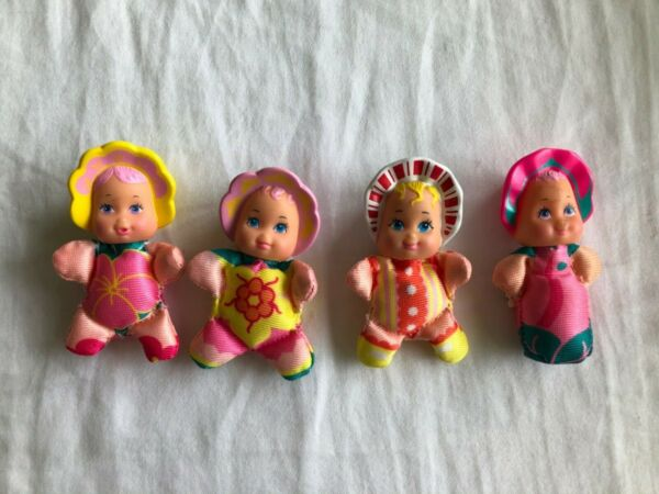 Lot of 4 - Vintage Lewis Galoob 1989 So Small Baby Doll Bean Bags