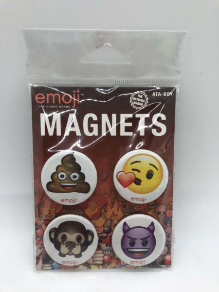 Emojis Set of Four 4 Magnets NEW