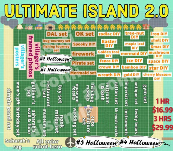 New Horizons 🌴ULTIMATE Treasure Island Unlimited Trips 70mins 3 hrs 🌴 $29.99