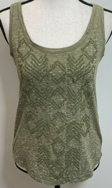 Sonoma Tank Top Size XS Heathered Olive with Olive Embroidery