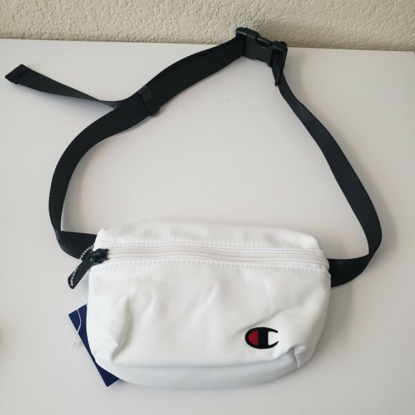 CHAMPION unisex White waist pack bag adjustable strap One Size 8quot;x5quot;x1.5quot;
