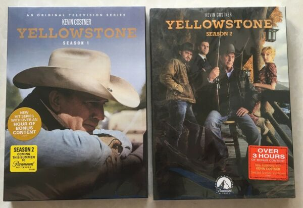 Yellowstone : The Complete Series Season 1 - 2 (DVD 2019 8-Disc Set) 1