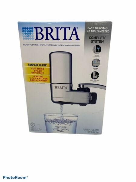 Brita Basic Faucet Mount Water Filtration System Chrome Easy Installation