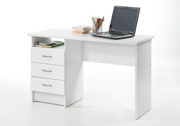 Small Computer Desk Table Study Wood Home Office Furniture W/ Drawers + Storage