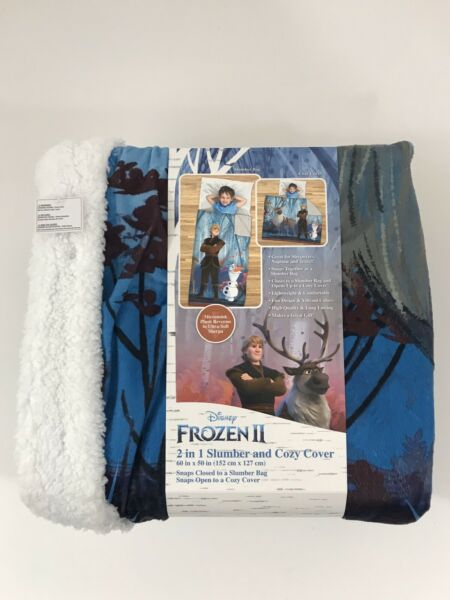 Frozen II 2 in 1 Slumber and Cozy Cover Sleeping Bag Blanket Sven Olaf