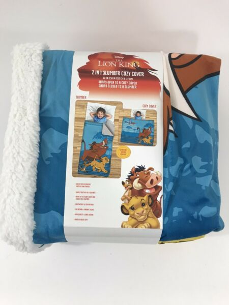 The Lion King 2 in 1 Slumber and Cozy Cover Sleeping Bag Blanket