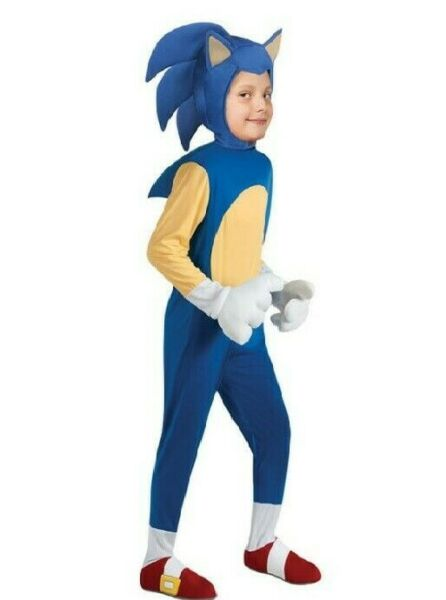 Sonic the Hedgehog Child Costume SIZE S US Seller