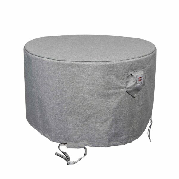 Shield Platinum 3 Layer Outdoor Fire Table Round Covers Grey Melange $89.10