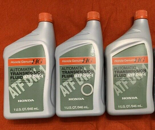 3 Qts Genuine Honda 08200-9008 Automatic Transmission Fluid ATF DW-1 With Washer
