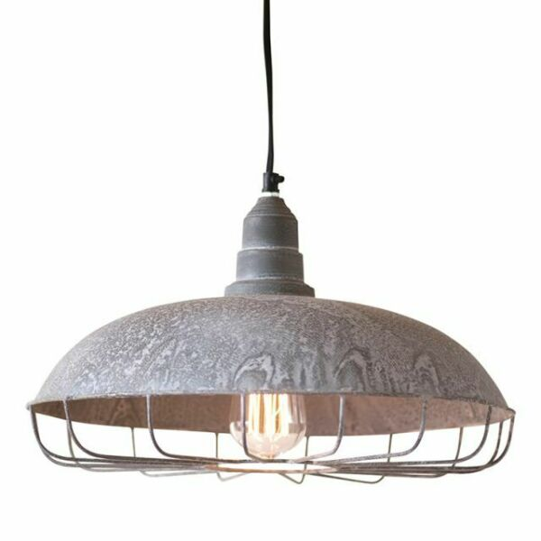 Industrial new SUPPLY STORE Hanging Light in Weathered Zinc