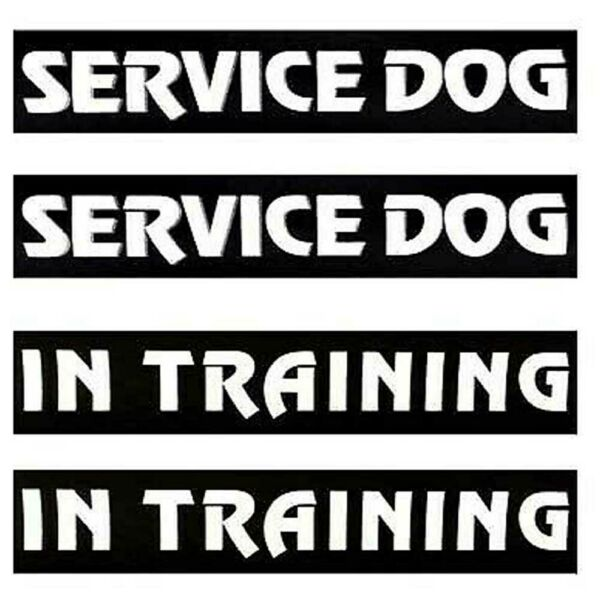 1Pair Patches Service Dog Removable In Training Emotional Support Label Tag USA $5.99