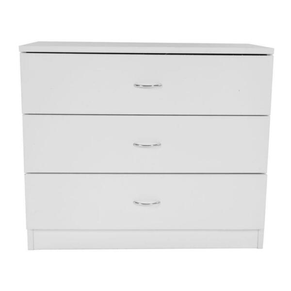 Nightstand Chest 3 Drawers Bedside Dresser Furniture for Bedroom office Organize $65.90