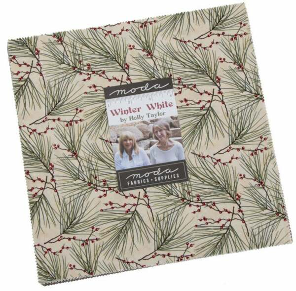 Moda Winter White Layer Cake 10quot; Fabric Quilting Squares 6810LC B01