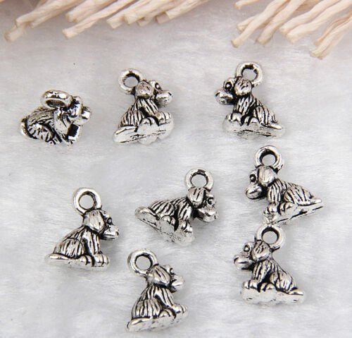 30Pcs Tibetan Silver Dog Charms Pendants 8x5mm $1.99
