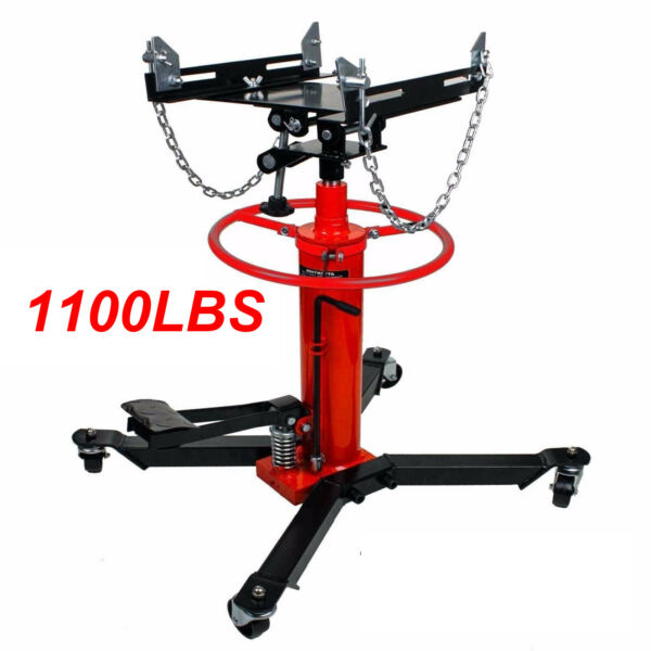 A1660lbs 0.75Ton Transmission Jack 2 Stage Hydraulic w 360° for car auto lift $224.98