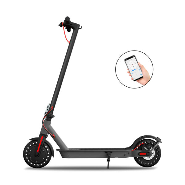 Hiboy S2 Electric Scooter Folding 17 Miles 18.6 MPH Commute 8.5quot; Solid Tires APP