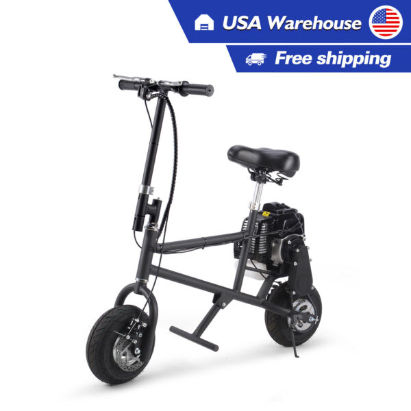 SAY YEAH 49cc Gas Mini Bike Black Adult 2 Stroke Bicycle Power Petrol Bike $325.88