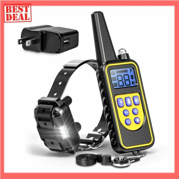 Dog Training Collar Shock Waterproof Rechargeable 875 Yard Remote Pet Large NEW $34.99