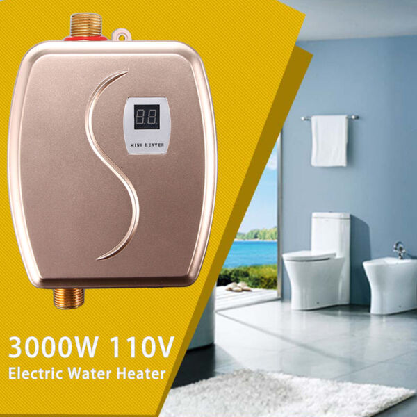 110V Portable Instant Electric Tankless Hot Water Heater Shower Kitchen Bathroom $48.99