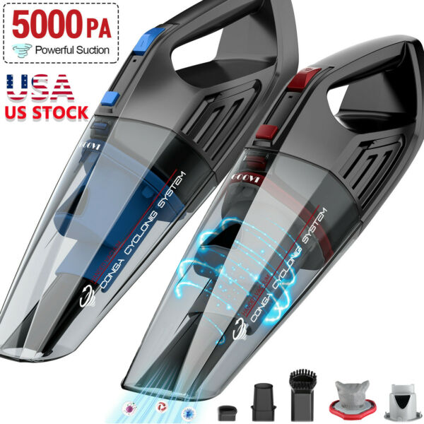 Cordless Mini Car Vacuum Cleaner Portable For Auto Home Hand Held Wet Dry Duster $24.65