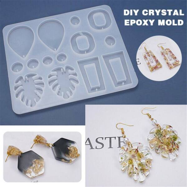 Silicone Earring Pendant Jewelry Resin Mold Casting Mould Tool DIY Epoxy Making $2.84