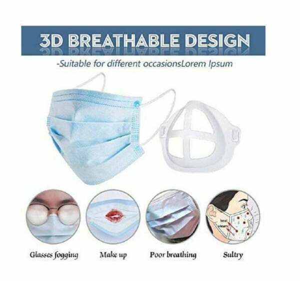 1 3 5pcs 3D Face Masks Bracket Mouth Separate Inner Stand Holder Breathing Space