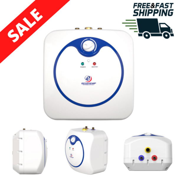 Electric Water Heater Mini Tank 2.5 Gal Compact 120V Outlet Plug Hot Boiler New $204.98