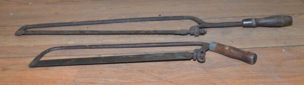 2 collectible meat bone saw ram head nut blacksmith forged whaling early tools $39.99
