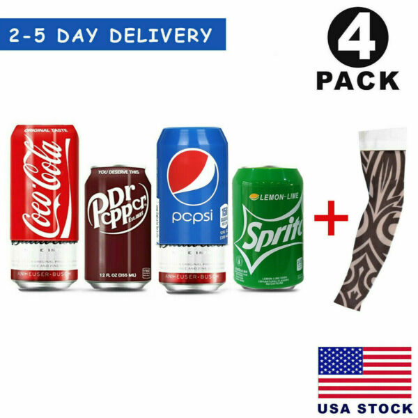 Silicone Beer Can Covers Hide A Beer Soda Can Sleeve 350ml Anti Slip 4 Pack