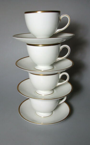 WEDGWOOD CALIFORNIA SET OF 4 CUP amp; SAUCER SETS 2 5 8quot; TALL X 3 1 4quot; DIAMETER P $67.00