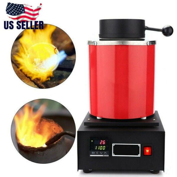 Pro 1500W 3KG Electric Melting Furnace Gold Silver Metal Smelter Jewelry Tool $213.74