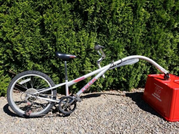 MOUNTAIN TRAIN TREK TAG ALONG TRAILER BIKE 20IN .6 SPEED pre owned Great $220.00