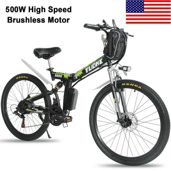 26quot; Electric Folding Bike Mountain Bicycle EBike SHIMANO 21Speed 36V Li Battery $541.49