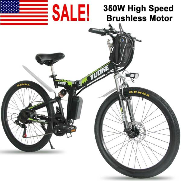 26quot; Electric Folding Bike Mountain Bicycle Ebike Shimano 21 Speed W.Li Battery $529.99