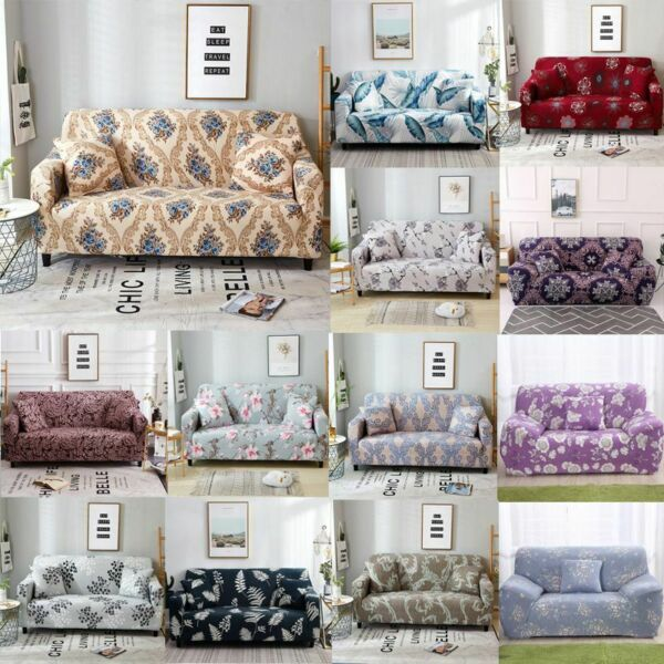 Printed Slipcover Sofa Covers Spandex Stretch Couch Cover Furniture Protectors $26.93