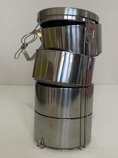 4Tier LUNCH BOX pure stainless food container storage metal insulation