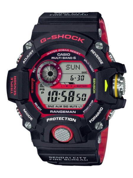 G SHOCK A? Emergency Fire Relief Corps Collaboration GW 9400NFST Toughness Model