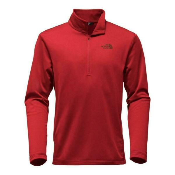 The North Face Men#x27;s Tech Glacier 1 4 Zip Ketchup Red Size Small Medium
