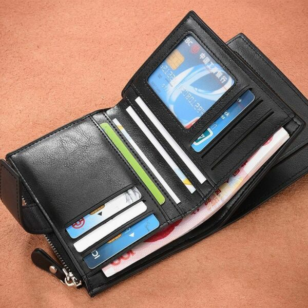 Men#x27;s Leather Wallet Card Holder Wallets Money Clip Coin Purse Clutch Mens Gifts