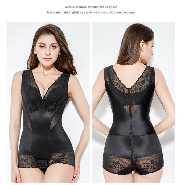 Full Body Shaper Waist Cincher Corset Bodysuit Shapewear Fajas Colombianas Post