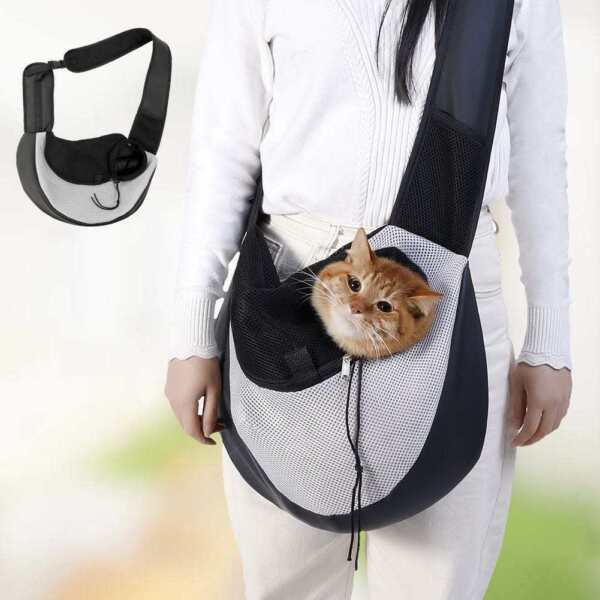 soft cat bag dog bag pet sling shoulder carry bag $11.90