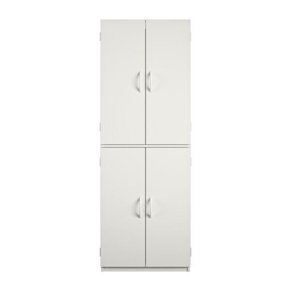 Tall 60quot; Storage Cabinet Home Kitchen Pantry Cupboard Furniture Organizer White